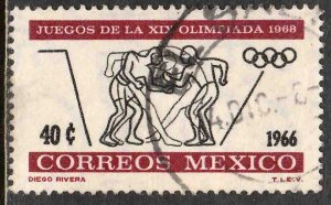 MEXICO 975, 40¢ 2nd Pre-Olympic Issue - 1966 USED VF. (436)