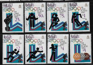 1979 Belize 461-8 1980 Winter Olympics, LakePlacid C/S CTO