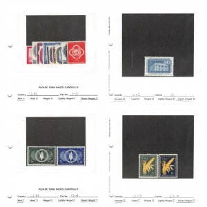 Lot of 104 U.N. United Nations MNH Mint Never Hinged Stamps #149749* X R