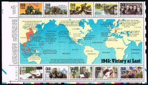 US #2981 World War II; MNH (5Stars)