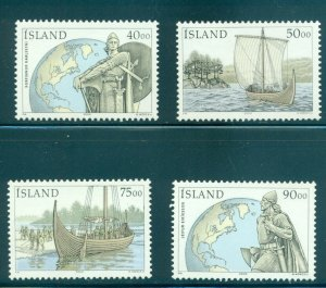 Iceland - Sc# 902-5. 2000 Discovery of Vinland. MNH. $8.00.