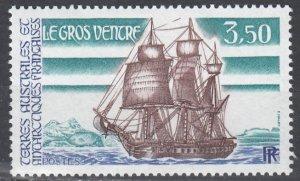 French Southern Antarctic Terr, Sc 136, MNH, 1988, Le Gras Ventre