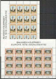 EC239 1978 GUERNSEY EUROPA CEPT ARCHITECTURE MONUMENT MEMORIAL SEAMEN 2SH MNH