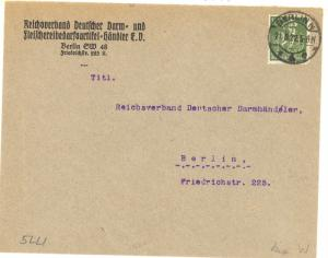 Germany #172 tied by Berlin 21.8.22 pmk on local cover VF