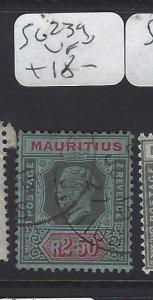 MAURITIUS   (PP0710B)  KGV 2.5R SG 239   VFU