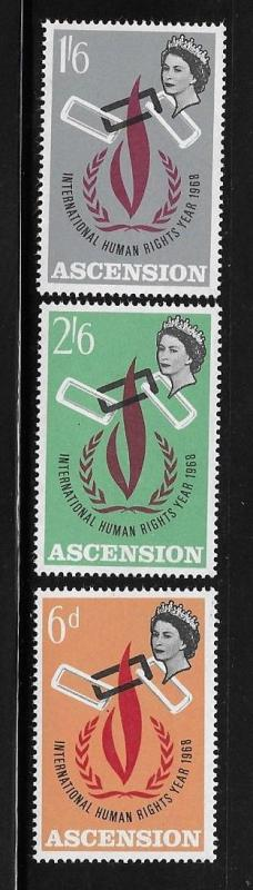 Ascension 1968 International Human Rights Year MNH A153