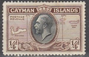 Cayman Is #85 F-VF Unused   (S6486)