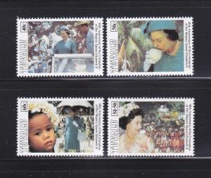 Tuvalu 642-645 Set MNH Queen Elizabeth II