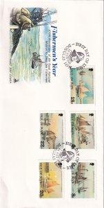 1981, Isle of Man: Fishermen's Year, FDC (E12302)