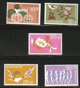 Suriname Scott B211-215 MNH** 1974  semi-postal set