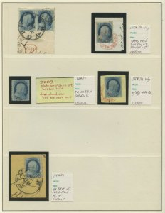 #24 SELECTION OF (1) PAIR AND (4) SINGLES ON PAGE BV562