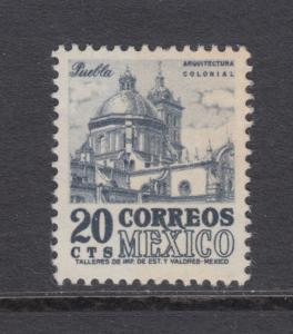 Mexico Sc 860 MNH. 1950 20c blue violet Cathedral