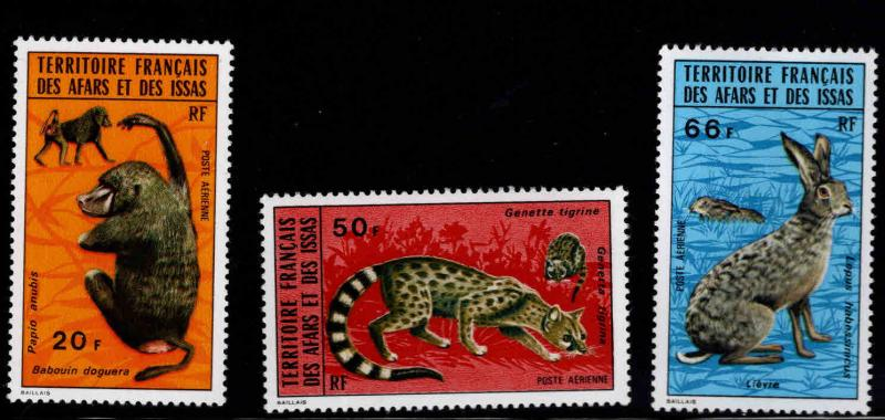Afars and Issas Scott C94-C96 MNH** Wild Animal stamp set