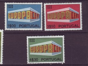 J22050 Jlstamps various 1969 portugal set mh #1038-40 europa