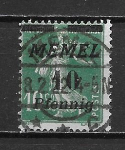 Memel 52 10pf Sower single Used