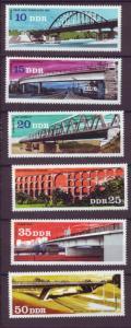 J20524 Jlstamps 1976 germany ddr set mnh #1757-62 bridges