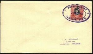 JAMAICA 1956 cover ROSES VALLEY Temporary rubber datestamp.................96302