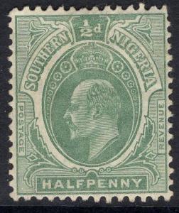SOUTHERN NIGERIA SG33 1907 ½d GREY-GREEN HEAD DIE B MTD MINT