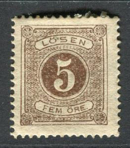 SWEDEN; 1874 early classic Postage Due issue Mint hinged 3ore. value