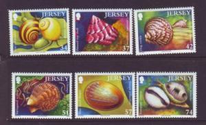 Jersey Sc 1207-12 2006 Sea Shells stamp set mint NH