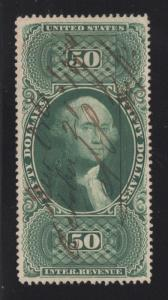 R101c Green - $50.00 - U.S. Internal Revenue - Used
