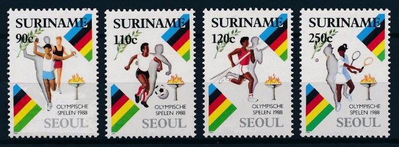 [63222] Suriname 1988 Olympic Games Seoul - Football  Tennis  MNH