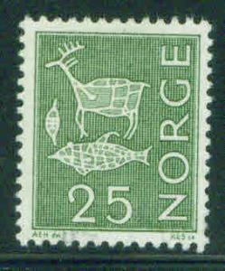 Norway Scott 420 MH* 1963 Rock Carving stamp
