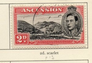 Ascension 1938-53 GVI Early Issue Fine Used 2d. NW-155617