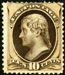 US Stamps # 188 MNH Fresh color Scott Catalogue $1,700.00