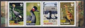 2006 Gambia 5631-5634strip WWF / Birds 8,00 €