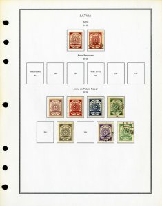 Latvia Clean Mint & Used 1918 to 2000 Rare Stamp Collection