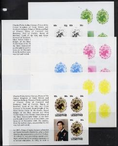 Booklet - Lesotho 1981 Royal Wedding 50s value (x 3) in b...