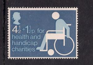 GB 1975 QE2 Health and Handicap Funds Umm stamp ( A1500 )