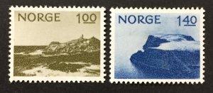 Norway 1974  #631-2, Lindesnes, Used.