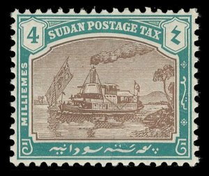 Sudan 1926 Postage Due 4m brown & green (CH) superb MNH. SG D6a.