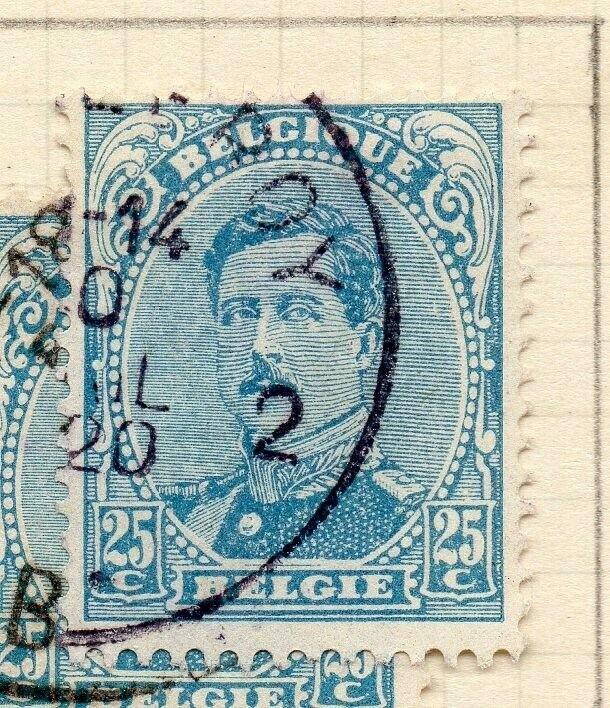 Belgium 1915 Early Issue Fine Used 25c. NW-115530