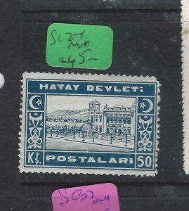 HATAY SYRIA  (P0420B)  OVPT ON TURKEY  50 KRS  SC 37   MNH