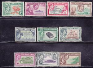 Pitcairn Is Scott # 1-8 VF previously hinged set nice colors cv $ 63 ! see pic !