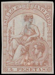 ESPAGNE / SPAIN / ESPAÑA Fiscales 1876 - Póliza Sello 6° 4 Pts - (faults)