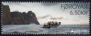 Faroe Islands 2012 MNH Sc #582 6.50k Tourists on board EUROPA