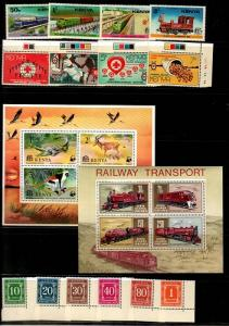 Kenya Mint NH sets and S/S lot - Catalog Value $45.90 [TC784]