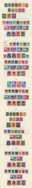 Collection of Burma KGVI on leaves cat 1373.90 pounds