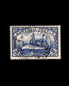 VINTAGE:MARSHALL ISL- GERMAN 1901 USED LHR,  SCOTT # 23 $150 EST  LOT 1901X465