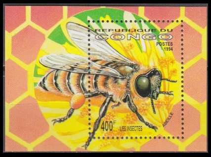 Congo MNH M/S 1420 Insect 1994