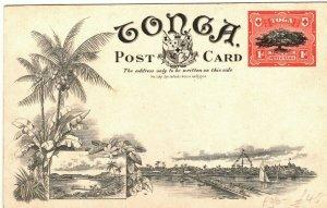 TONGA Unused Postal Stationery Card 1d PPC Tufumahina Postcard {samwells} PB301