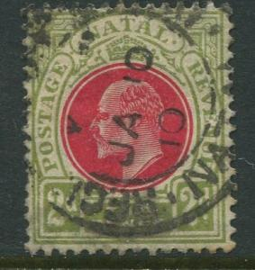 STAMP STATION PERTH Natal #103 Used KEVII 1904 Wmk 3 Multi Crown and CA CV$4.00.