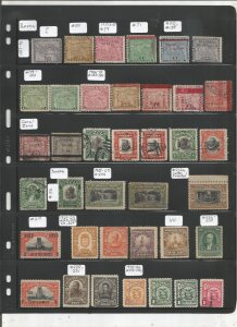 PANAMA COLLECTION ON STOCK SHEET, MINT/USED