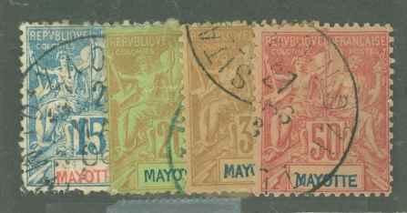 Mayotte 7/9/12/16 Used F