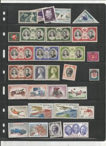 MONACO COLLECTION ON STOCK SHEET, MINT/USED
