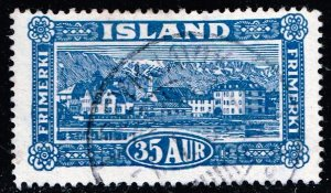 Iceland Stamp 1925 Landscapes USED 35 AUR STAMP